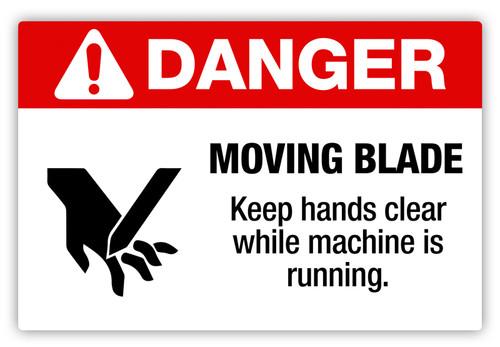 Danger - Moving Blade Label