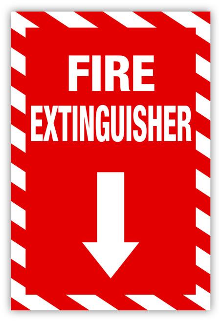 Fire Extinguisher (Vertical) Label