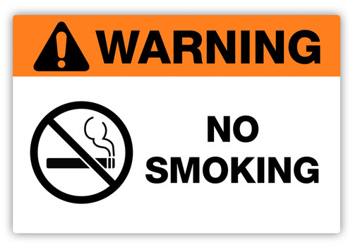 Warning - No Smoking Label