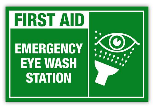 Emergency Eye Wash Label