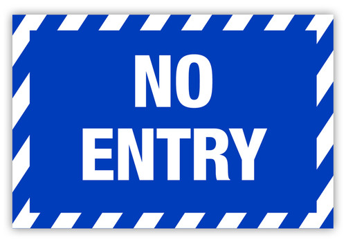 No Entry Label