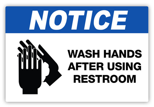 Notice - Wash Hands Label