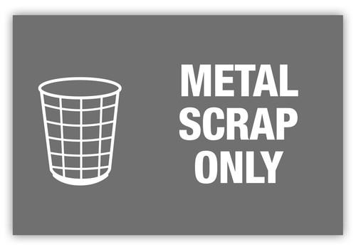 Metal Scrap Only Label