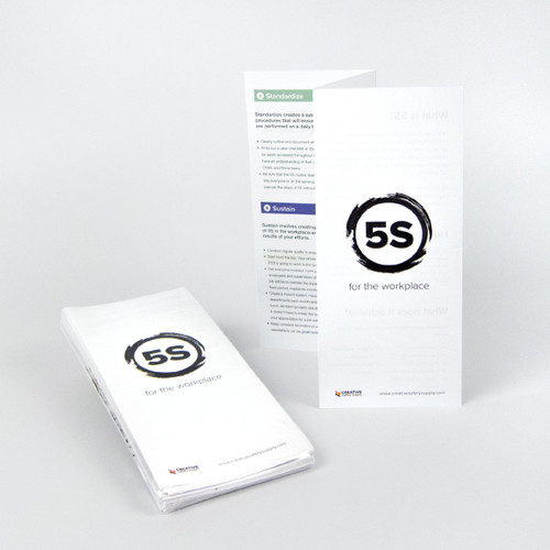 Help train your employees with our 5S Steps Training Handout Z-Fold.