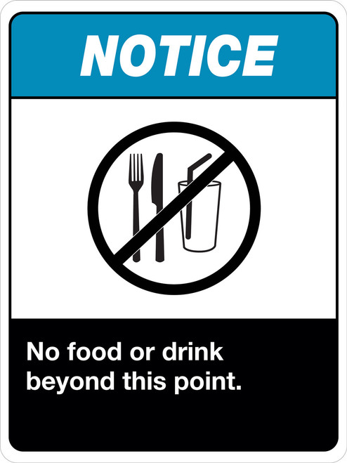 NO Food or Drinks beyond this point