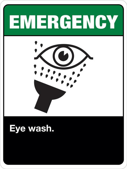 Emergency Eye Wash Station Label