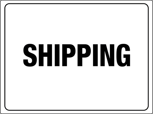 Shipping Area Sign -ws26016