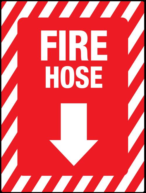 Fire hose Arrow Down/below