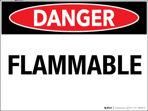 Danger: Flammable - Wall Sign