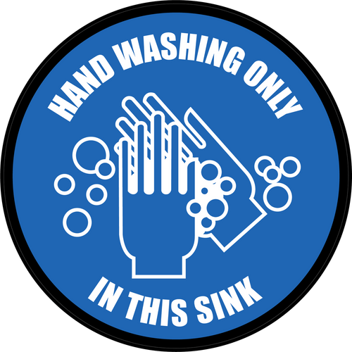 Hand Washing Only in This Sink Floor Sign