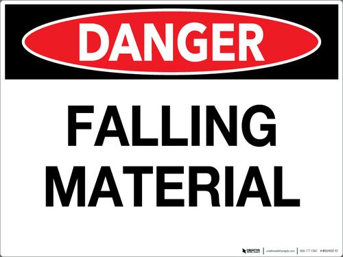 Danger: Falling Material Wall Sign