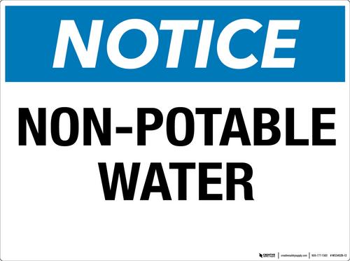 Notice: Non-Potable Water - Wall Sign