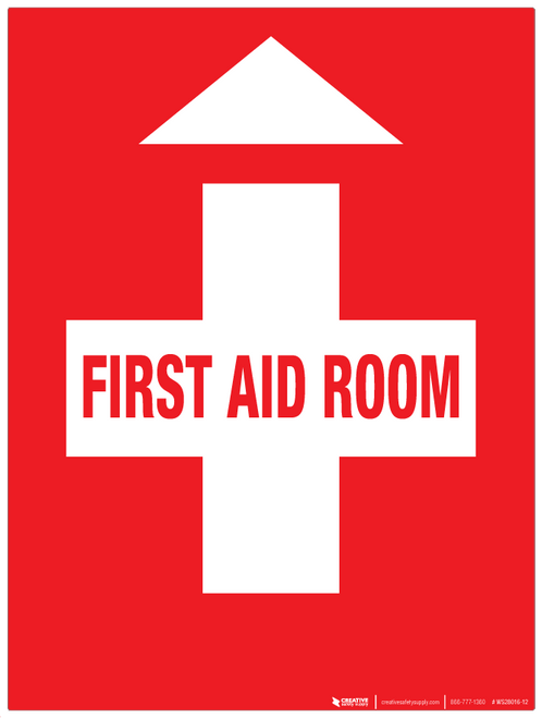 First Aid Room - Wall Sign