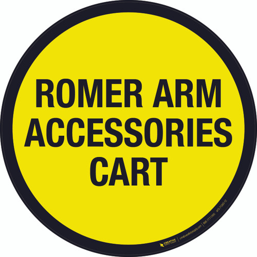 Romer Arm Accessories Cart Floor Sign