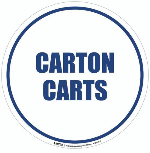 Carton Carts Floor Sign