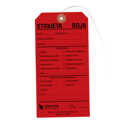 Etiquetas Rojas 5S - Spanish Red Tags