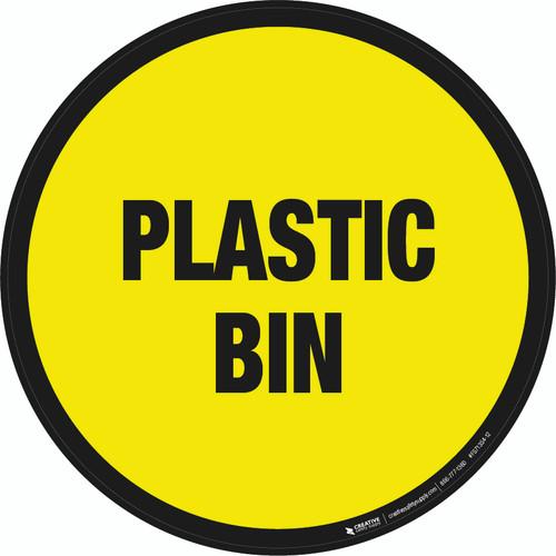Plastic Bin Floor Sign