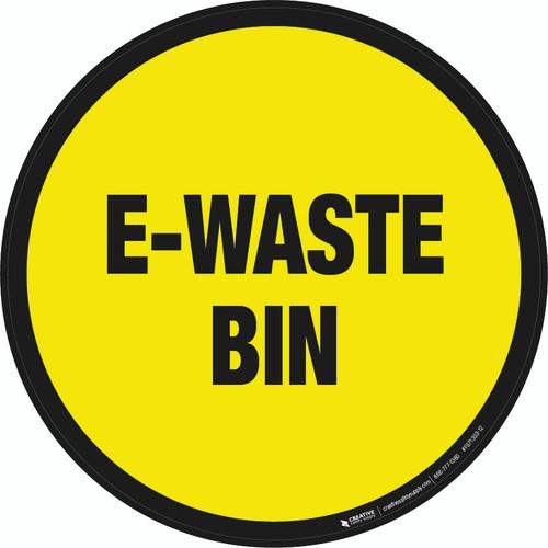 E-Waste Bin Floor Sign