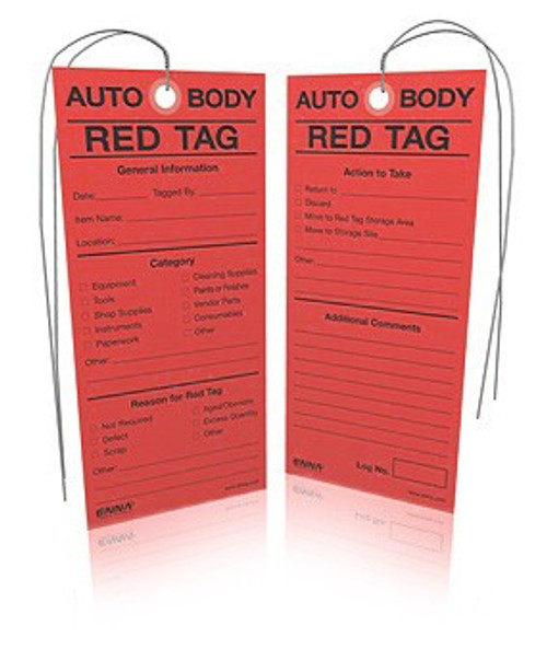 5S Auto Body Red Tags