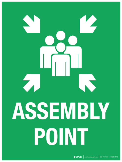 Assembly Point - Wall Sign