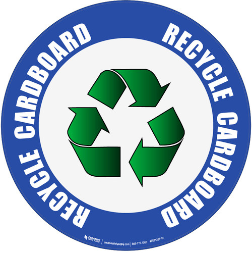 (Blue) Recycle Cardboard Floor Sign
