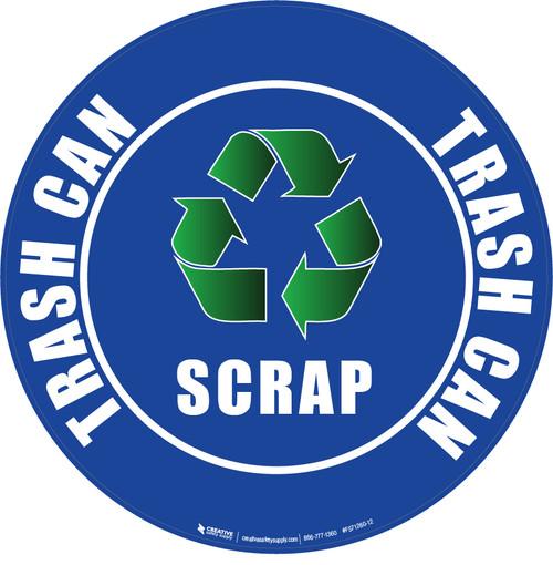 Scrap Recycle Floor Sign