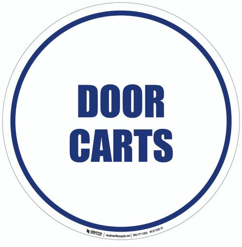 Door Carts Floor Sign