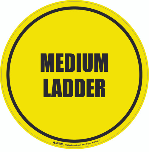 Medium Ladder Floor Sign