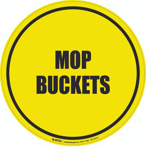Mop Buckets Floor Sign