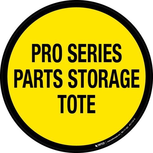 Pro Series Parts Storage Tote Floor Sign
