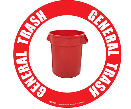 General Trash (Red) Floor Sign