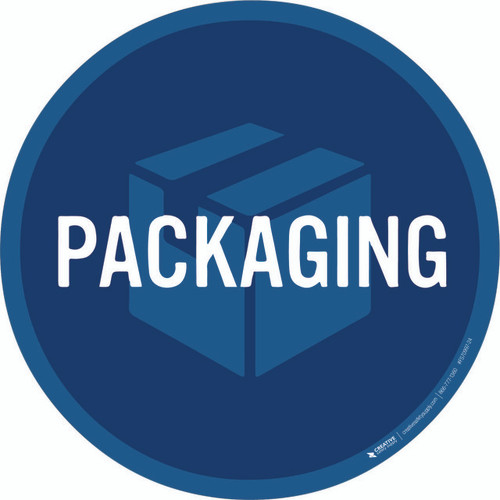 Packaging Floor Sign