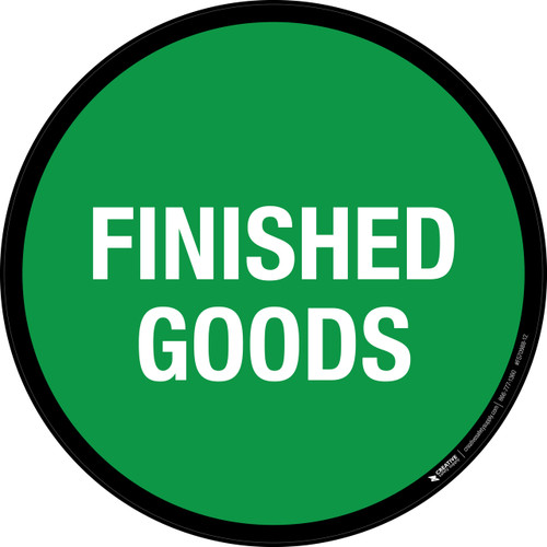 Finished Goods (Green) Floor Sign