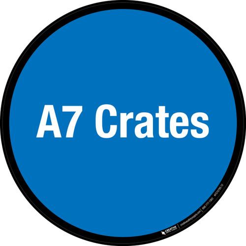A7 Crates Floor Sign