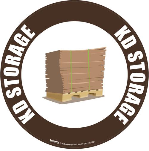 KD Storage Floor Sign