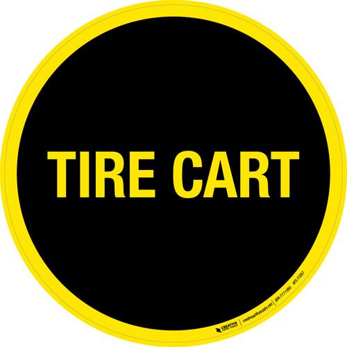 Tire Cart Floor Sign