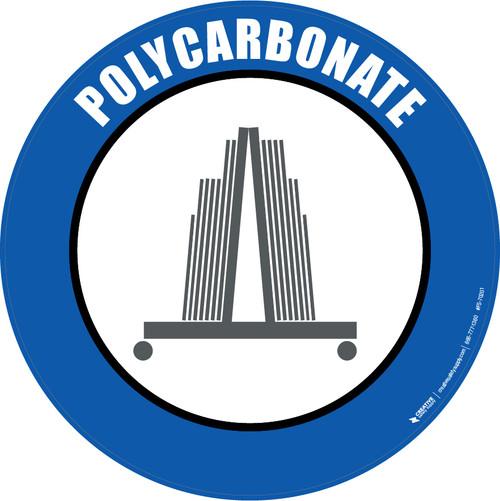Polycarbonate Floor Sign