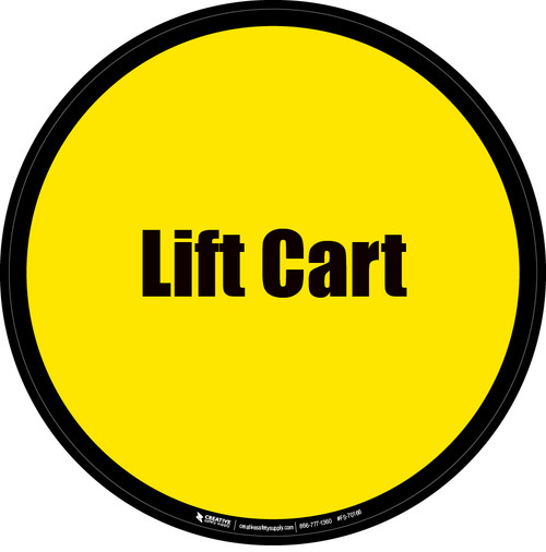 Lift Cart Floor Sign