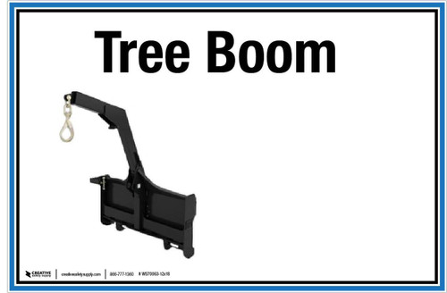 "Wall Sign: (UR) Tree Boom - 12""x18"" (Peel-and-Stick Permanent Adhesive)"