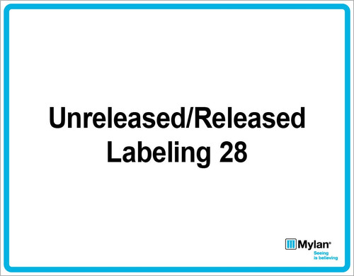 """Wall Sign: (Mylan Logo) Unreleased/Released Labeling 28 11""""x14"""" (Mounted on 3mm PVC)"""