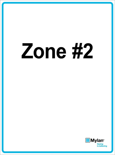 "Wall Sign: (Mylan Logo) Zone #2 15""x20"" (Mounted on 3mm PVC) Double Sided"