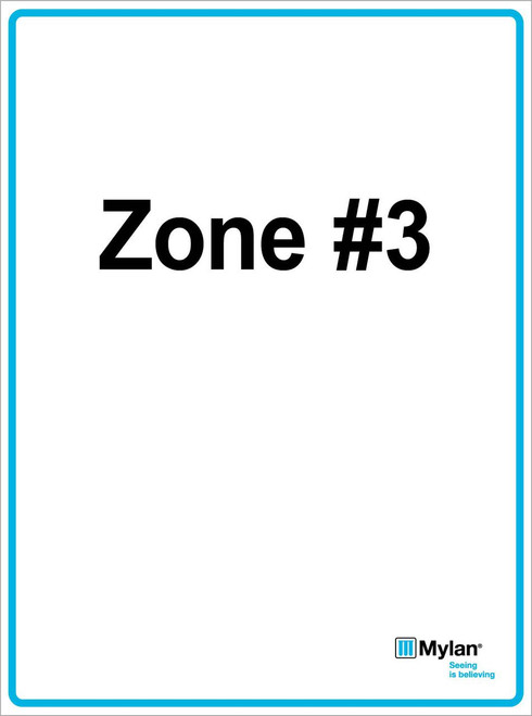 """Wall Sign: (Mylan Logo) Zone #3 15""""x20"""" (Mounted on 3mm PVC) Double Sided"""