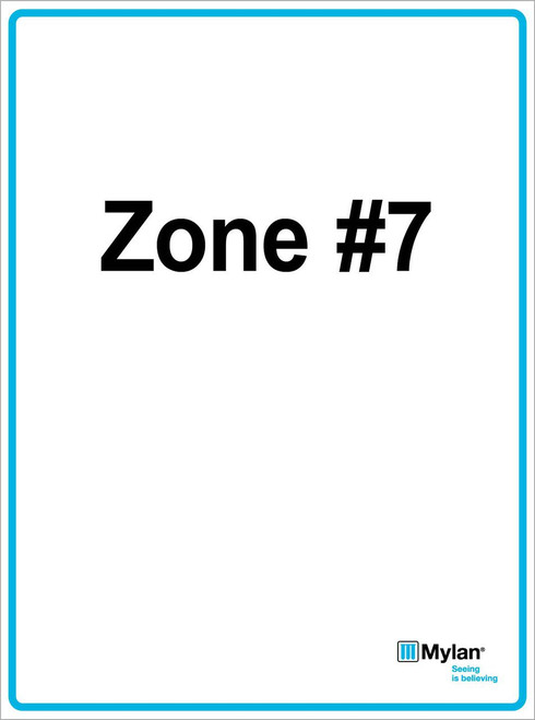 """Wall Sign: (Mylan Logo) Zone #7 15""""x20"""" (Mounted on 3mm PVC) Double Sided"""