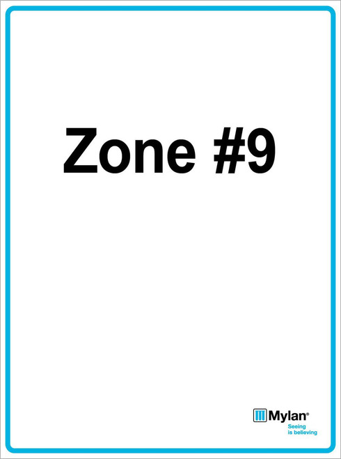 "Wall Sign: (Mylan Logo) Zone #9 15""x20"" (Mounted on 3mm PVC) Double Sided"