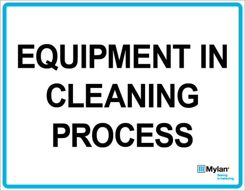 "Wall Sign: (Mylan Logo) Equipment in Cleaning Process 11""x14"" (Mounted on 3mm PVC)"