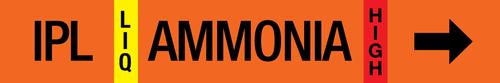Ammonia Pipe Marking Label - Intermediate Press Liquid