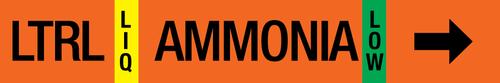 Ammonia Label - Low Temperature Recirculated Liquid