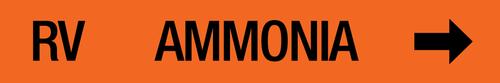 Ammonia Label - Relief Vent - No Banding