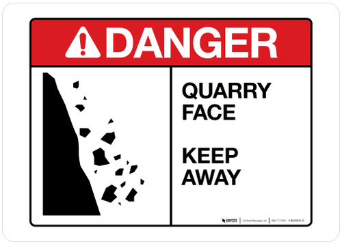 Danger - Quarry Face - Keep Away - Wall Sign