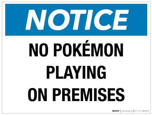 No Pokemon on the Premises